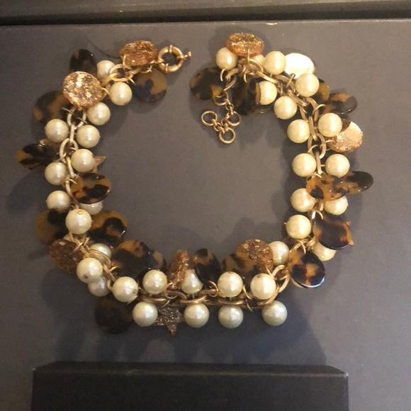 J crew tortoise pearl necklace